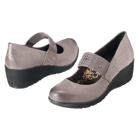 ELAINE WEDGE HEELS MARY JANE GUNMETAL