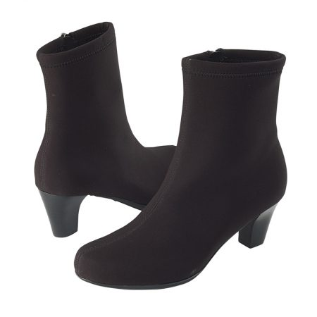 VICTORIA ANKLE BOOT STRETCH BLACK