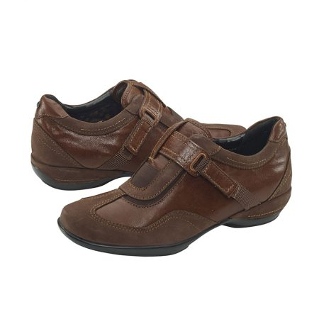 DIANE STRAP SLIP-ON BROWN