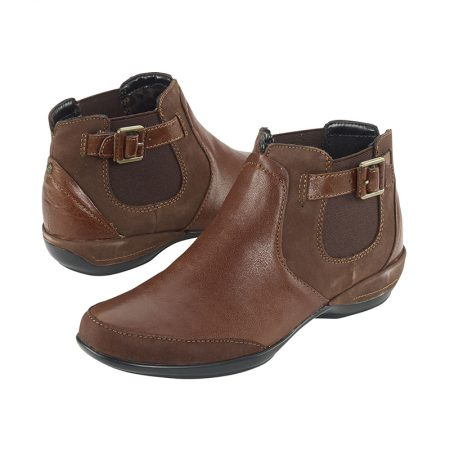 AMY ANKLE BOOT BROWN
