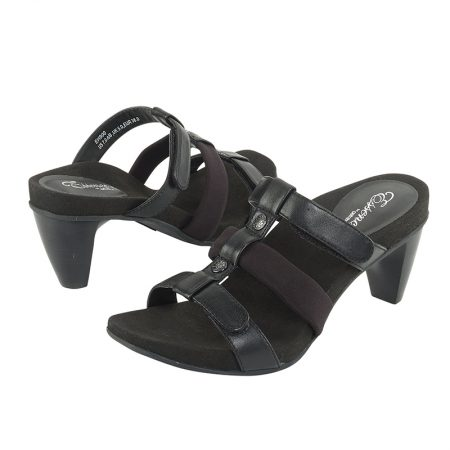KAYLA ADJUSTABLE 3 STRAP SLIDE BLACK