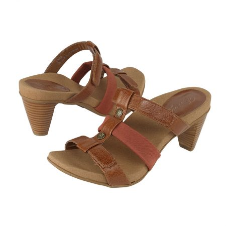 KAYLA ADJUSTABLE 3 STRAP SLIDE GINGER WHEAT
