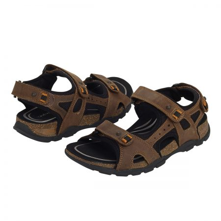 Aetrex Largo Sandal Brown