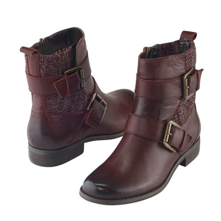 KARA ANKLE RIDING BOOT BURGUNDY