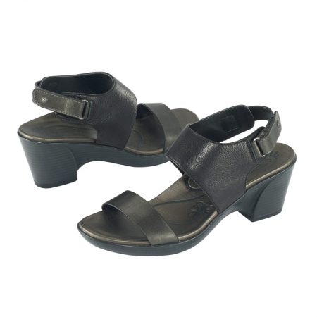 PEYTON QUARTER STRAP WEDGE SLIDE BLACK