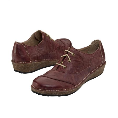 KERRY LACE-UP OXFORD MERLOT