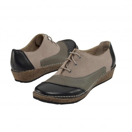KERRY LACE-UP OXFORD MULTI GREY