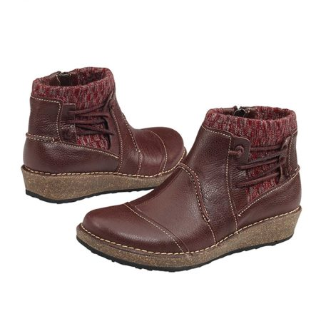 TESSA SHORT SWEATER BOOT BORDEAUX