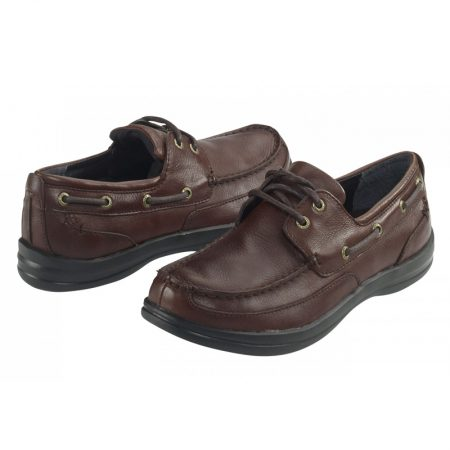 Aetrex Justin Boat Shoe Brown