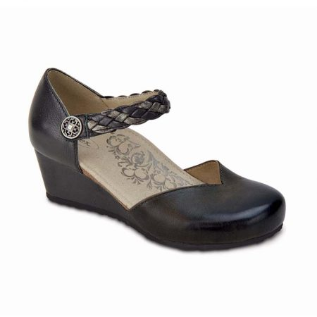 MIA BRAID WEDGE BLACK