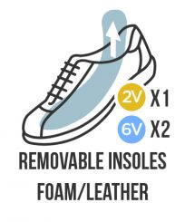 Removable insoles foam leather