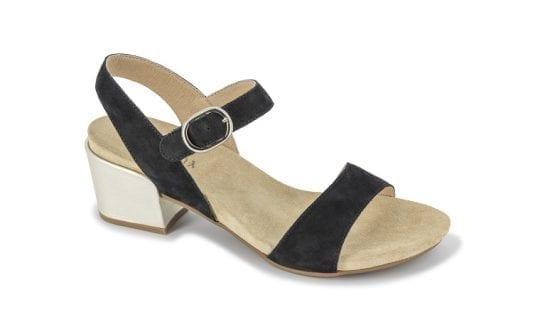 Дамски сандали Perla nero/platino, Benvado