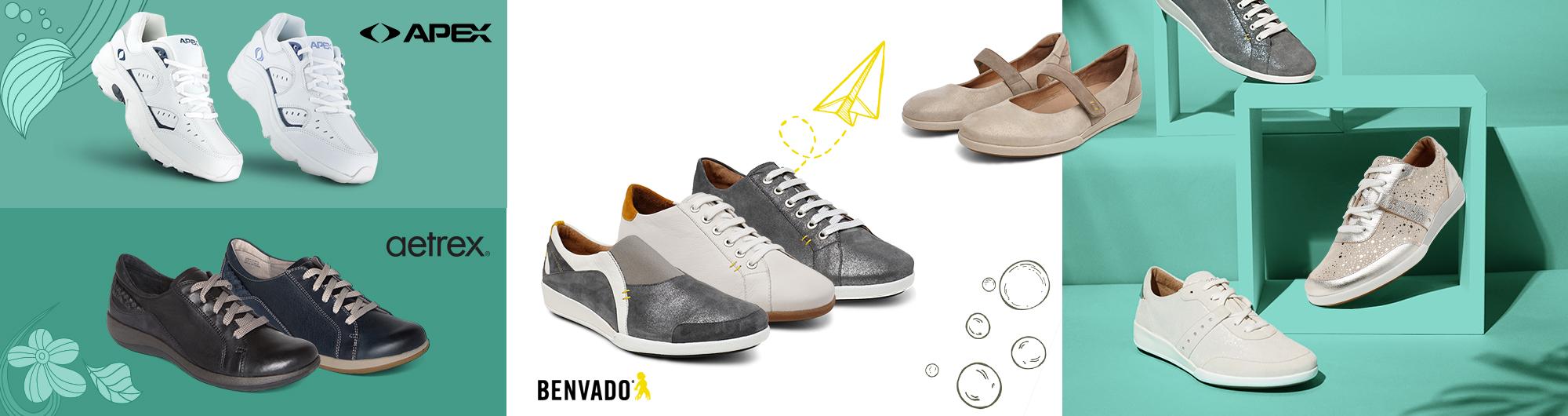 Дамски спортни обувки, дамски маратонки - Benvado, Apex, Aetrex